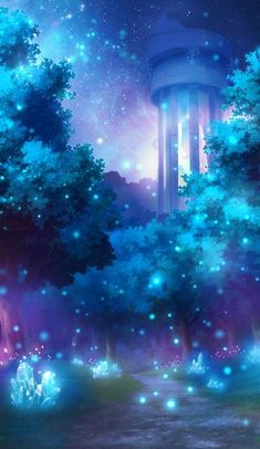 By Artist Unknown. Anime Scenery Wallpaper, Cute Wallpaper Backgrounds, Pretty Wallpapers, Galaxy Wallpaper, Fantasy Art Landscapes, Fantasy Landscape, Fantasy Artwork, Sky Landscape, Beautiful Nature Wallpaper
