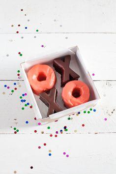 Homemade Valentine Treat Boxes & Glazed Mini Cakes