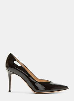 See latest handpicked womenswear arrivals featuring Gianvito Rossi Paris 85 Deep-Cut Heeled Patent Pumps in black. Shop at LN-CC. Stiletto Heels, Shoes Heels, Pumps, Designer Heels, Italian Leather, Designing Women, Classic Style, Kitten Heels, Women Wear
