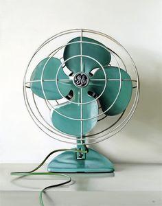 Vintage General Electric Green Fan.