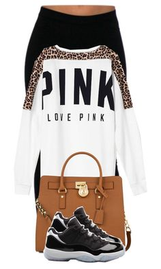 """""""Jordan Outfit (#8)"""" by desarae143 ❤ liked on Polyvore featuring Victoria's Secret PINK and Michael Kors"""