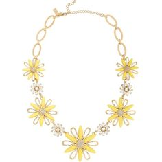 Kate Spade Daisy Dreams Statement Necklace (€200) ❤ liked on Polyvore featuring jewelry, necklaces, kate spade jewelry, white statement necklace, hippy jewelry, hippie necklaces and daisy necklace