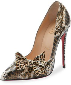 Shop for Madame Menodo Snakeskin Red Sole Pump, Black/Gold by Christian Louboutin at ShopStyle. Christian Louboutin Heels, Louboutin Shoes, Curvy Petite Fashion, Beautiful Heels, Red Sole, Pink Heels, Designer Heels, Fashion Shoes, Gold Fashion