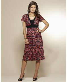 Print Jersey Dress Length 41in at Marisota