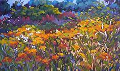 Field of Dreams - by jill charuk Oil ~ 36 x 60