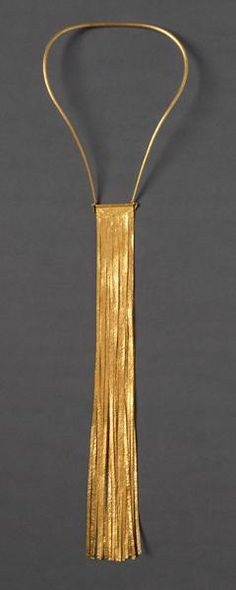 Yasuki Hiramatsu, necklace, design 1972, production 2002, gold, Die Neue Sammlung - Intl Design Museum Munich