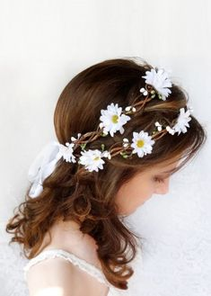 daisy flower crown for sale 2