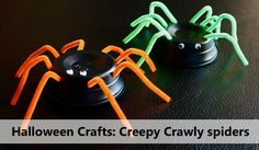 Halloween Crafts: Creepy Crawly Spiders | CrunchyMoms.com