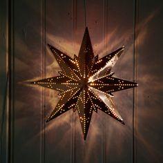 Copper Snowflake Lantern in HOLIDAY DECORATE Lighting Pendants+Lanterns at Terrain