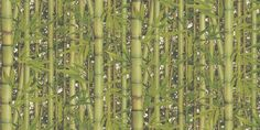 Bamboo Green (J78004) - Albany Wallpapers - A textured blown vinyl wallcovering featuring an all over design of trailing shoots of bamboo. Shown here in various shades of green. Please request a sample for a true colour match.