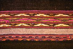 Traditional Chinchero patterns woven on a manta (blanket).