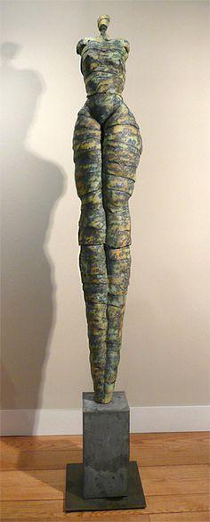 Jane Burton, Figurative ceramic sculpture, sculpture in clay