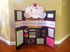 5th Grade Science Fair Project. Cupcake board design layout ideas.