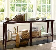 Console Table In Front Of A Large Window The Airiness Of