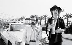 Scorsese and Robertson on the French Riviera for The Last Waltz's presentation at the Cannes Film Festival, 1978.