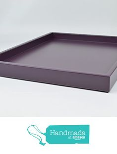 Decorative Tray Plum Purple Matte Lacquer 18 in. by 14 in. Shallow Low-profile Tray from Gleaming Renditions http://www.amazon.com/dp/B016SCHMZO/ref=hnd_sw_r_pi_dp_2612wb1FRH1RM #handmadeatamazon