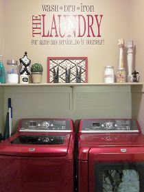 How cute is this?!? Adorable Antics: Laundry Room Decorations (on NO budget)