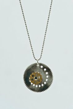 Spiro-Spirograph-One Direction Necklace-Silver by galbarash