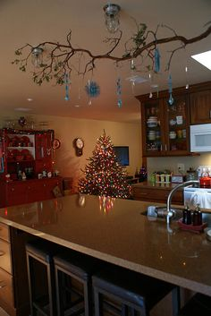 christmas branch - this would be great over my sink