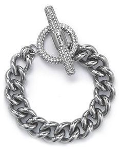 Juicy Couture Luxe Rocks Crystal Link Bracelet | Bloomingdale's