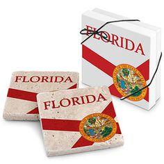 Florida Stone Travertine Coaster (Set of 2)