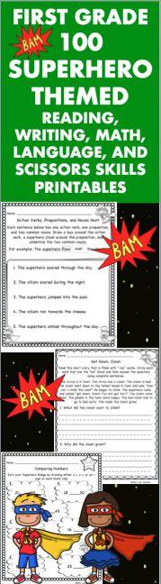100 Kindergarten Space Theme No Prep Language, Reading, Writing ...