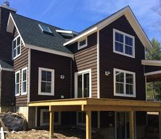 Cordovan Brown Solid Stain Siding