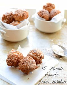 Life Changing 15 Minute Donut (holes) from Scratch - no canned biscuits here!