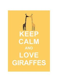 WAAAAAAAAAAHHHHHHHHHHH! I DO SEE IT!!!! NEED. Now. lovelovelovelovelovelove!    $10.80 Keep Calm and Love Giraffes  Pastel Yellow \  by simplygiftsonline   I hope Erin sees this! ;)