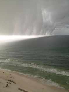 A wall cloud in Panama City Beach, Florida