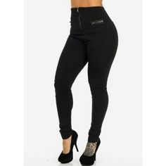 I just discovered this while shopping on Poshmark: Black stretch high waisted stretch pants. Check it out!  Size: L-petite