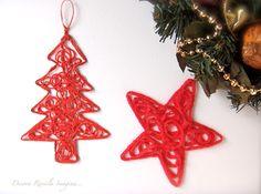 MENTŐÖTLET - kreáció, újrahasznosítás: Karácsonyfadísz fonalból