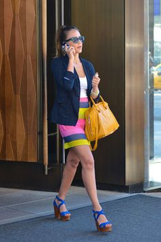 Love this outfit on Jessica Alba.