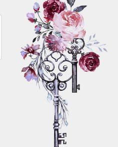 Mandala Art Wallpaper Iphone Wallpapers Ideas For 2019 Bild Tattoos, Key Tattoos, Body Art Tattoos, Mandala Art, Keys Art, Cute Wallpapers, Iphone Wallpapers, Flower Art, Watercolor Art