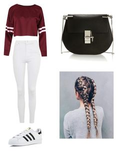 """Movie date❤️"" by mikayla714 on Polyvore featuring Topshop, adidas and Chloé"