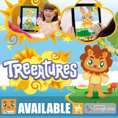 TREEATURES - Play and mix Treeatures in funny and awesome combinations! Unleash the imagination of your children making up a story with different and new super powers for their new friends. (Screenshot) Available in Google Play (https://play.google.com/store/apps/details?id=com.KDToonsAndGames.Treeatures&hl=es)