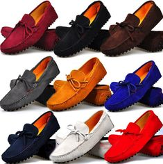 99b1efafed2 Fulinken Size 5-12 New Genuine Leather Slip On Driving Loafers Mens Casual  Shoes