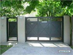 Tor Design, Fence Design, Front Gates, Entrance Gates, Garden Entrance, Garden Gates, Gate Pictures, Custom Gates, Sliding Gate