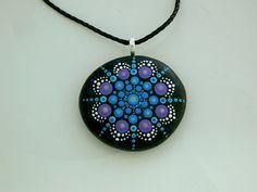 Bohemian jewelry-pendant necklace-mandala by RockArtiste on Etsy