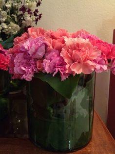 Centros de mesa rosa