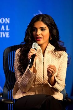 Princess Ameerah at the Clinton Global Initiative Talks