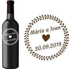 Svadobná etiketa Tara Wine, Drinks, Bottle, Drinking, Beverages, Flask, Drink, Jars, Beverage
