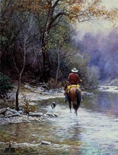 """Creek Bottom Search"" by Martin Grelle (American, born 1954)"