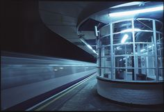 South Ealing tube station by night.