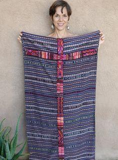 Ethnic Maya Woman's Vintage Handwoven Ikat, Indigo & Cotton Corte/Skirt: Chichicastenago, Guatemala Guatemalan Textiles, Ikat, Maya, Indigo, Hand Weaving, Vintage Ladies, Ethnic, Skirts, Cotton