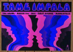 Tame Impala by Kiii Arens Minneapolis poster