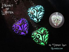 Heart of Winter Frozen Glow in the Dark Necklace by MoniqueLula