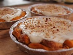 Pumpkin Cinnamon Rolls by The Pioneer Woman. These should be really good. She makes all of her food be really healthy too, which is a big plus! And remember, pumpkin is a vegetable, so I guess it is healthy! This is a MUST TRY by me!