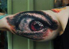 sith+tattoos | throat tattoo #eyeball tattoo #biomechanical tattoo #evil tattoo # ...