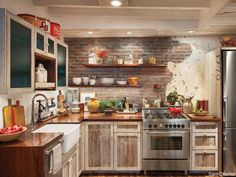 Boho  vintage rustic kitchen